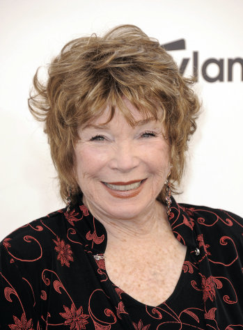 Shirley MacLaine arrives at the AFI Life Achievement Award Honoring Shirley MacLaine at Sony Studios on Thursday, June 7, 2012 in Culver City, Calif. The AFI Lifetime Achievement Honoring Shirley MacLaine airs on June 24, 2012 at 9pm on TV Land. (Photo by Jordan Strauss/Invision/AP)