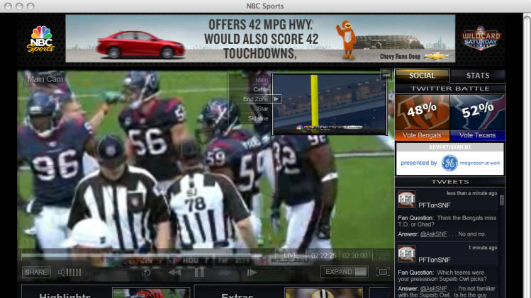 Review: Super Bowl online decent, won't replace TV