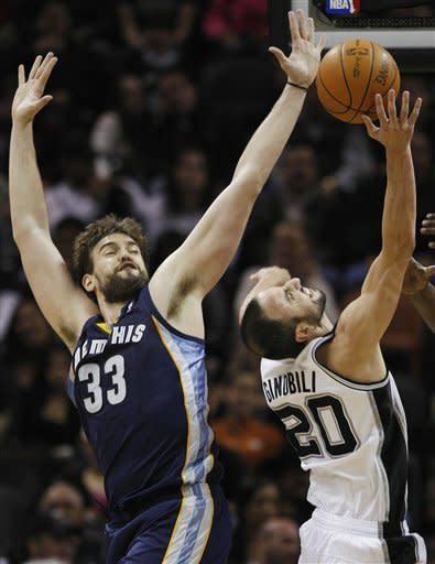 Ginobili's 24 helps Spurs get revenge on Grizzlies