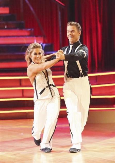 Derek Hough and Shawn Johnson quickstep on the 'Dancing with the Stars: All-Stars' finals, Nov. 26, 2012 -- ABC