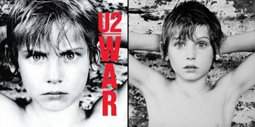 "U2's album cover for ""War"" (L) and an unpublished outtake (R)"