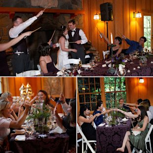 bridal guide magazine harry potter wedding wands