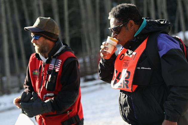 Disabled Military Veterans Learn Winter Sports At Veterans Affairs Clinic