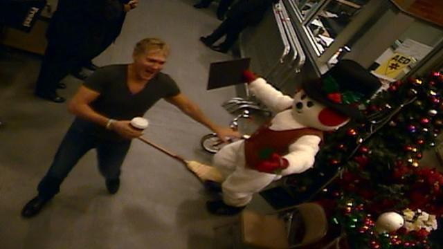First Look: Snowman Surprise at 'GMA'