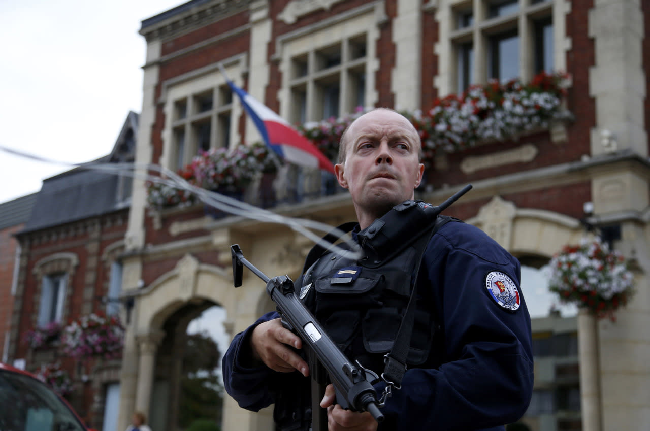 Priest killed in attack at church in Normandy, France