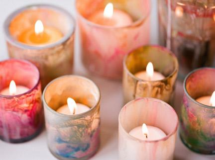 DIY Painted Votive Holders