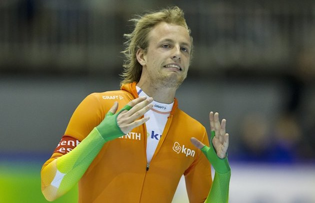 Netherland's Michel Mulder Grimaces AFP/Getty Images