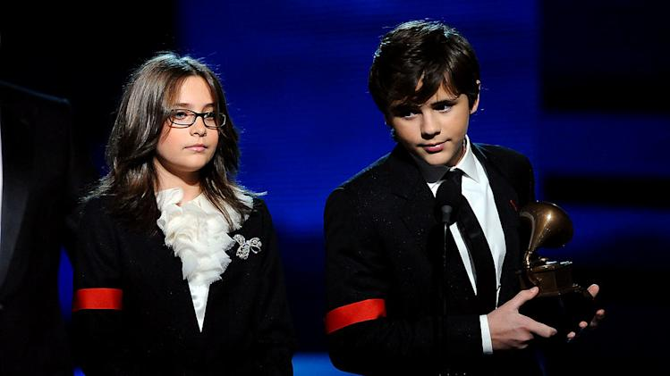 Paris Katherine Jackson and Prince Michael Jackson at The 52nd Annual Grammy Awards held at Staples Center on January 31, 2010 in Los Angeles, California.