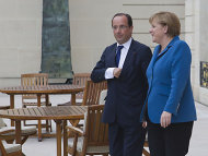 Merkel trifft Hollande in Reims