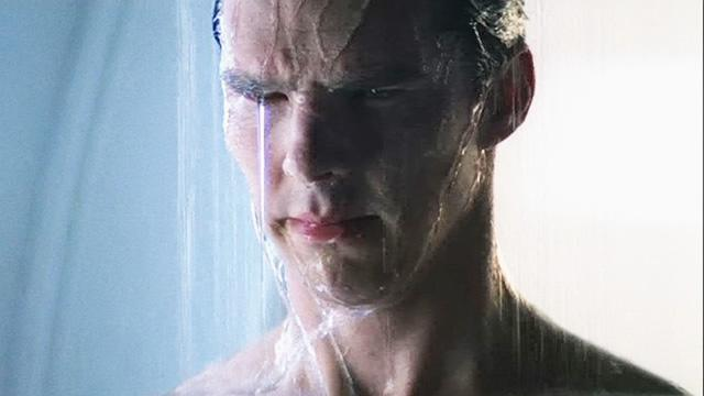 Cumberbatch Discusses Deleted Shower Scene