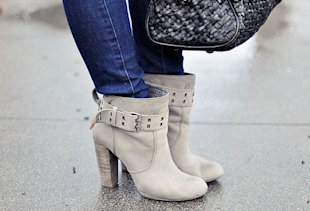 Super Skinny Jeans With Loose Ankle Booties