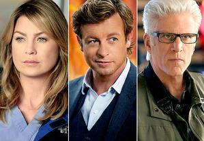 Ellen Pompeo, Simon Baker, Ted Danson | Photo Credits: Richard Cartwright/ABC; Jaimie Trueblood/Warner Bros; Sonja Flemming/CBS