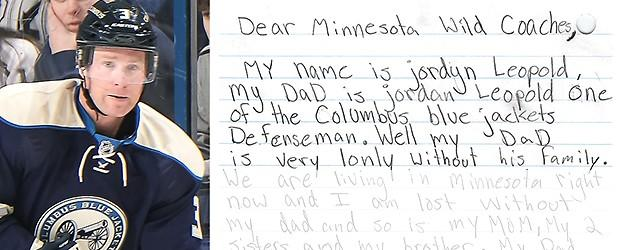 Player traded to Wild after daughter writes to team