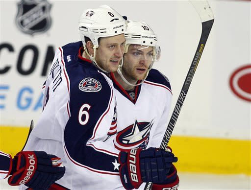 Prospal leads Blue Jackets past Flames, 6-4