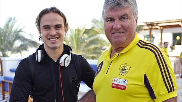Guus Hiddink and Andrei Yeshchenko at Anzhi