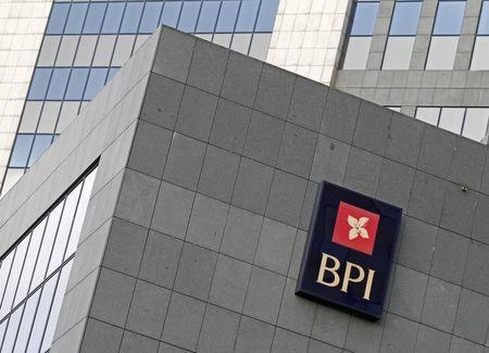 Portuguese bank BPI logo is seen on their offices in Lisbon