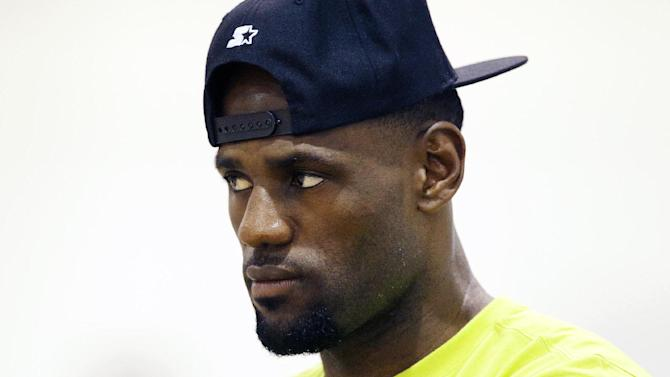 LeBron James attends the LeBron James Skills Academy Thursday, July 10, 2014, in Las Vegas. (AP Photo/John Locher)