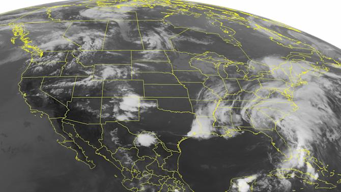 Tropical Storm Andrea zipping up the East Coast