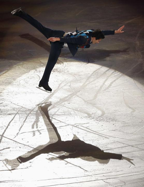Patrick Chan of Canada performs during the gala exhibition at the ISU Grand Prix of Figure Skating Final in Fukuoka