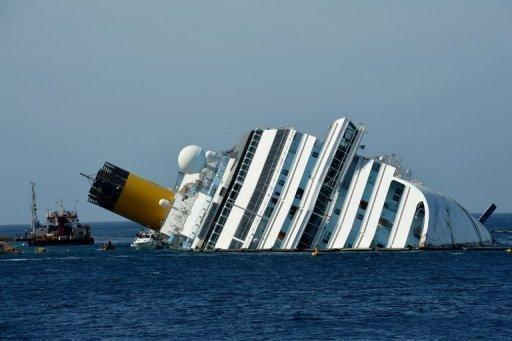 The Costa Concordia hit rocks off Giglio on the night of January 13