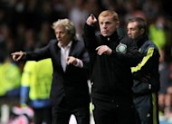 Celtic manager Neil Lennon during his side's Champions League match agaist Benfica on September 19. He hopes to have his influential captain Scott Brown available for the home match against Dundee on Saturday