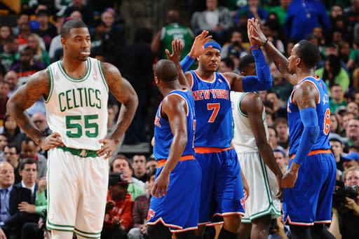 Smith, Anthony lead Knicks over Celtics, 100-85
