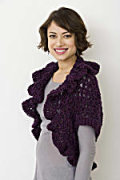 V Stitch Cocoon Shrug