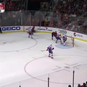 Marcus Johansson Hit on Travis Hamonic (19:49/2nd)