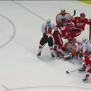 Tomas Tatar sweeps home the rebound
