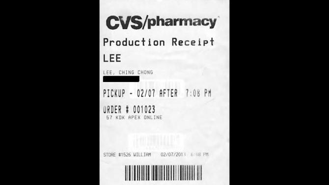 "This photo provided by Susan Lask, attorney for Hyun Lee, shows a claim check Lee says she received from the photo department of a CVS pharmacy in Egg Harbor City, N.J., on Feb. 7, 2013. When Lee picked up her photos she noticed an employee had identified her with the derogatory phrase ""Ching Chong Lee"" on the ticket. Lask says Lee filed a discrimination lawsuit against CVS in federal court, seeking $1 million, on April 16, 2013. (AP Photo/Courtesy of Susan Lask)"