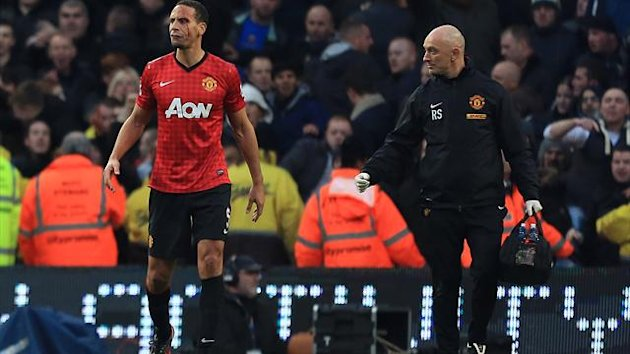 Paddy Crerand defended Rio Ferdinand, left, after he was hit by a coin