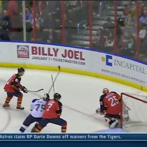 Chris Stewart scores from impossible angle