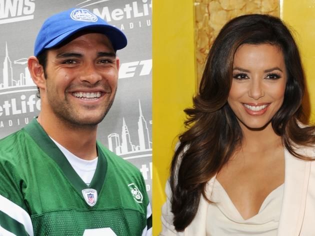 Mark Sanchez, Eva Longoria -- Getty Premium