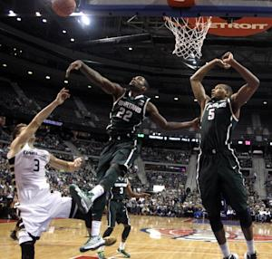 No. 5 Michigan State beats Oakland 67-63