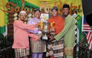 A picture from the Asian Tour shows (from left) Asian Tour players Sukree Othman of Malaysia, Panuphol Pittayarat of Thailand, Joonas Granberg of Finland and Shaaban Hussin of Malaysia. Defending champion Granberg says he is looking to reproduce last year's magic but is having trouble staying calm ahead of the Worldwide Holdings Selangor Masters starting in Malaysia on Wednesday