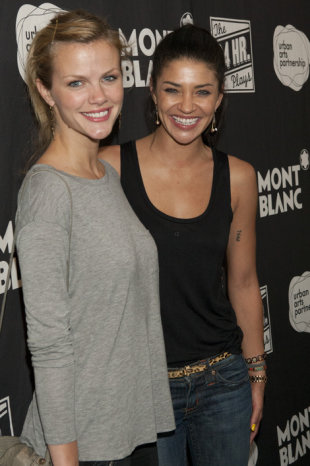 Brooklyn Decker and Jessica Szohr at Montblanc's 24 Hour Plays: Los Angeles supporting the Urban Arts Partnership