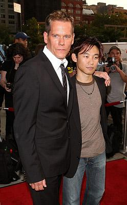 Kevin Bacon and director James Wan at the New York premiere of 20th Century Fox's Death Sentence