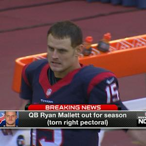 Houston Texans quarterback Ryan Mallett out for season