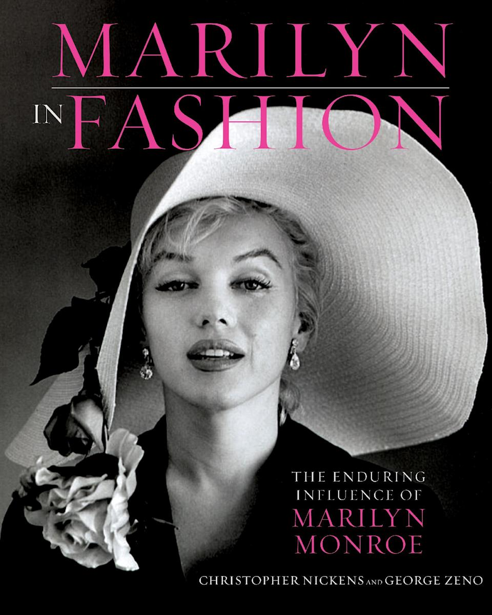 "This book cover image released by Running Press, a member of the Perseus Books Group, shows ""Marilyn in Fashion: The enduring Influence of Marilyn Monroe,"" by Christopher Nickens and George Zeno. (AP Photo/Running Press, a member of the Perseus Books Group)"
