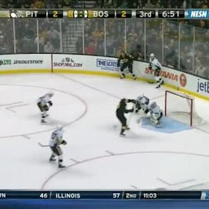Marc-Andre Fleury Save on Patrice Bergeron (13:19/3rd)