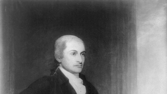 This undated painting made available by the Library of Congress shows John Jay (1745-1829). As more of his papers have become available in the early 21st century, Jay's admirers, ranging from specialists to such popular historians as Joseph Ellis and Walter Isaacson, have been arguing that a founder they believe underrated deserves a closer look _ as one whose achievements extend to virtually every branch of government, on the state, federal and international level. (Library of Congress via AP)
