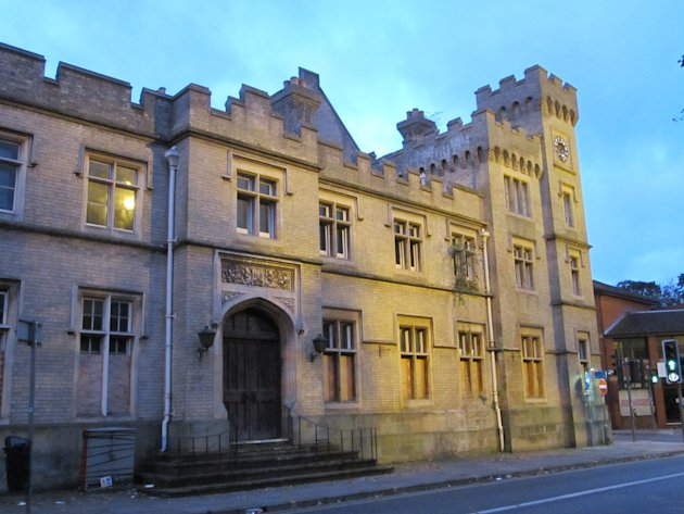 Ipswich former County Hall: While the outside of this wonderful castle-like structure remains imposing, the inside has been wrecked by vandals and squatters. Having once been the town's jail, law cour