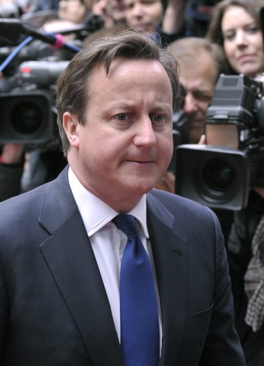 Britain's PM Cameron arrives at a European Union leaders summit in Brussels