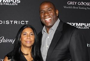 Magic Johnson and Cook | Photo Credits: JB Lacroix/WireImage