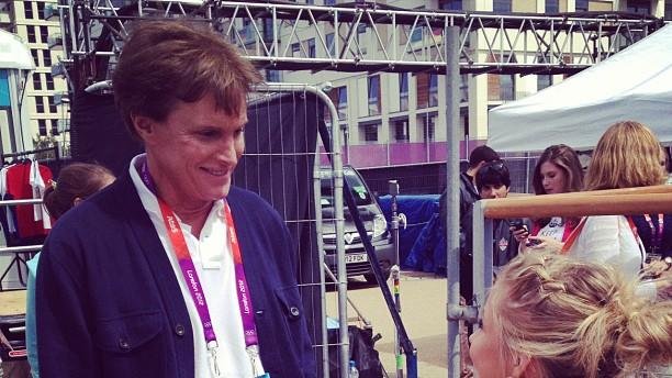 Shawn Johnson and Bruce Jenner