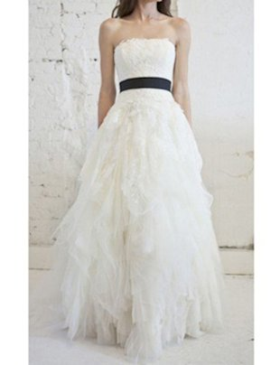 VERA WANG 'ELIZA' LACE & TULLE PRINCESS GOWN, $7,900 (FROM $11,000)