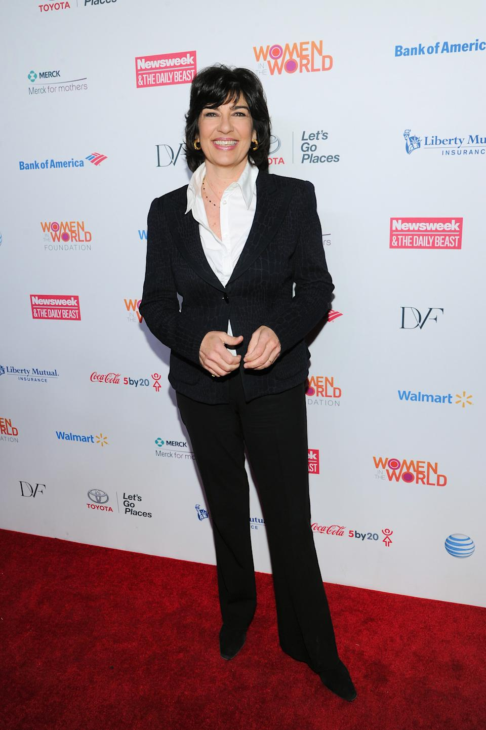 CNN news correspondent Christiane Amanpour attends the 4th Annual Women in the World Summit at the David H. Koch Theater on Thursday April 4, 2013 in New York. (Photo by Evan Agostini/Invision/AP)