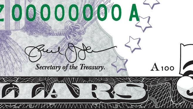 Treasury unveils Lew's improved signature