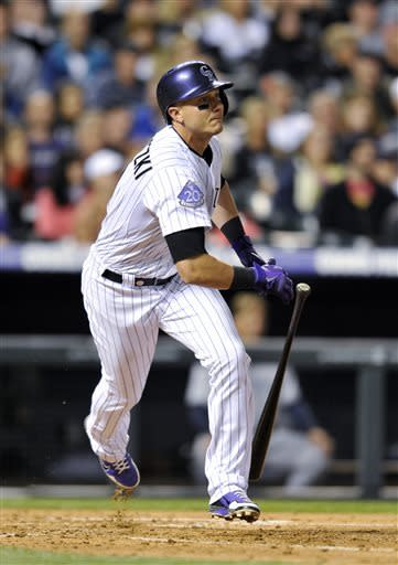 Cuddyer drives in 4 as Rockies beat Padres, 6-3