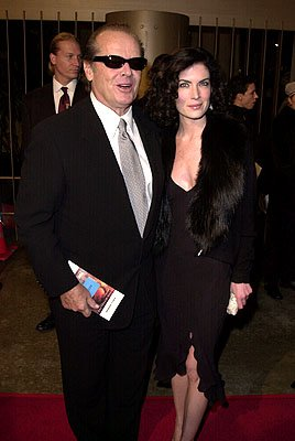 Jack Nicholson and Lara Flynn Boyle at the Los Angeles premiere of Warner Brothers' The Pledge